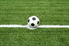 Free Football On Kick Point Stock Photos - 15082113