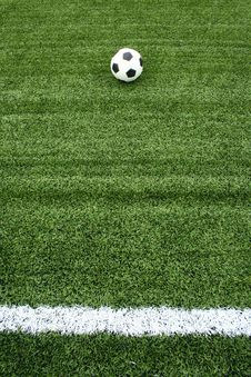 Free Soccer Ball On Green Grass Royalty Free Stock Photography - 15082137