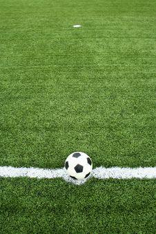 Free Soccer Ball On Kick Point Stock Photos - 15082423