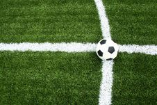 Free Soccer On Intersection Line Stock Images - 15082474