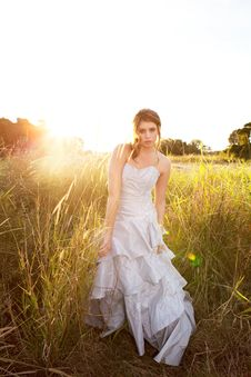 Free Attractive Young Woman Standing In The Grass Royalty Free Stock Photos - 15082508