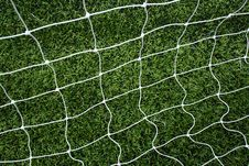 Free Soccer Net On Green Grass Stock Image - 15082561