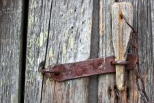 Free Old Wooden Door With A Padlock Royalty Free Stock Photo - 15082565