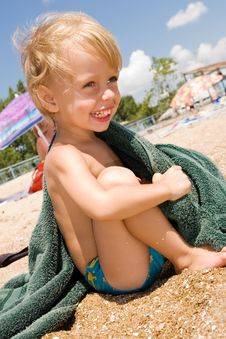 Free Little Boy Having Fun At The Beach Stock Photo - 15082860