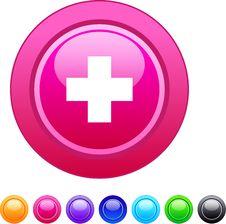 Free Plus Circle Button. Stock Photos - 15083423