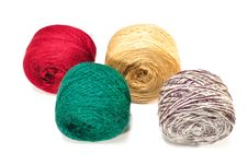 Colored Balls Of Yarn Stock Image