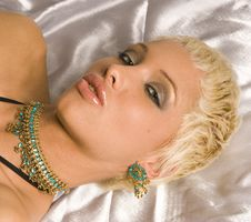 Glamour Portrait Of Blonde Woman Stock Images