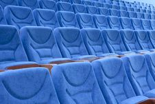 Free Empty Blue Chairs Stock Photos - 15084503