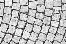 Free Cobblestone Black And White Royalty Free Stock Image - 15084686