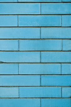 Free Blue Brick Wall Stock Image - 15084781