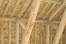 Free Roof Support In 13 Th Century Building. Stock Image - 15084921