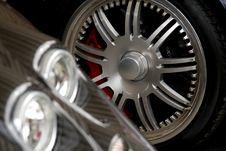Free Exotic Car Headlight With Chrome Wheel Stock Image - 15085251