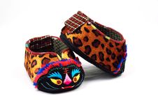 Free Baby S Shoes With Tiger Head Stock Photos - 15085273