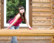 Free Girl  On A Veranda Royalty Free Stock Images - 15085529