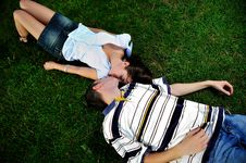 Free Couple Kissing Outdoor Stock Photo - 15085600