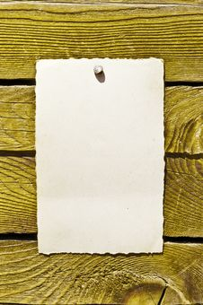Empty Note On Wood Texture Royalty Free Stock Photos