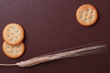 Free Cookies On Brown Background Stock Image - 15086451