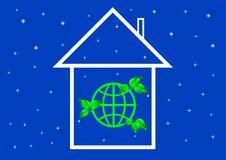 Eco House Metaphor. Royalty Free Stock Photo