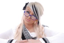Free Sexy Blond Girl In Glasses Royalty Free Stock Photo - 15087475