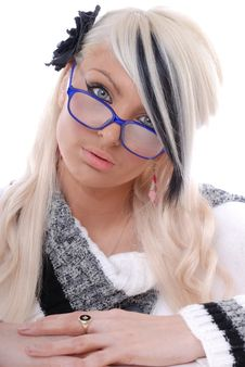 Free Sexy Blond Girl In Glasses Stock Photos - 15087483