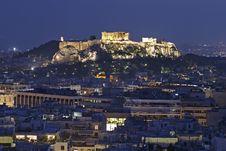 Free The Acropolis At Night Stock Photos - 15087773