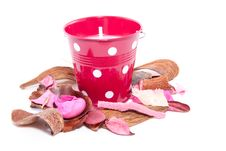 Free Colorful Potpourri And A Candle Stock Photo - 15089010
