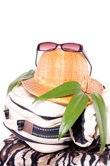Tropical Vacation Equipment Stock Photo