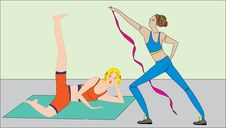 Free Two_girls_working_out Stock Photography - 15089372