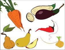 Free Carrot_eggplant_pear_onion Stock Photos - 15089383