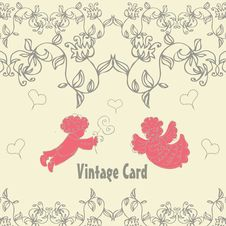 Free Vintage With Couple Angels In Love Stock Photos - 15089503