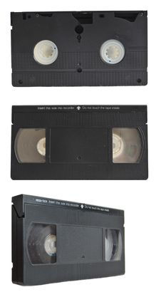 Free VHS Tape Collection Set Isolated On Royalty Free Stock Images - 15089609