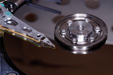 Free Hard Drive Interior Closeup Royalty Free Stock Image - 15089936