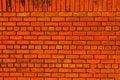 Free Orange Brick Wall Royalty Free Stock Photo - 15090845