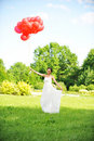 Free Bride  With Balloons Royalty Free Stock Photography - 15092217