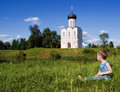 Free Little Boy On A  Orthodox Church Background Stock Image - 15093451