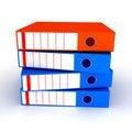 Free Folders On White Background Stock Photo - 15093650