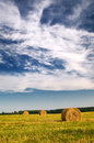 Free Haystack And Stubble By Summertime. Stock Photos - 15097383