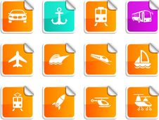 Free Transport Stickers. Stock Photo - 15090590