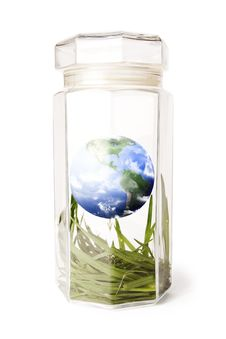 Free Protecting Earth Inside A Crystal Jar Stock Photos - 15090793