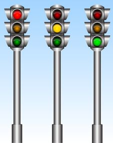Free Traffic Lights Royalty Free Stock Photo - 15090935