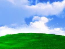 Free Green Field Meadow Hill Background Royalty Free Stock Images - 15091159