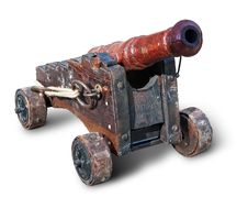Small Ancient Cannon Royalty Free Stock Photos