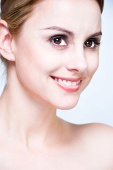 Close-up Face Of Blond Beauty Royalty Free Stock Images