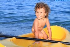 Free Baby And Sea Royalty Free Stock Photography - 15092447