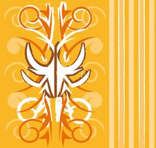 Free Orange Wallpaper Design Royalty Free Stock Photo - 15092965