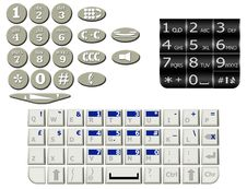 Free Various Mobile Keypad Royalty Free Stock Photos - 15093018
