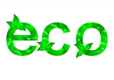 Green Ecology Concept. Vector. Royalty Free Stock Image