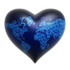 Free Heart - World Background Royalty Free Stock Image - 15093306
