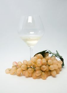 Free Still-life With Fruit And Wine Glass Stock Photography - 15093512