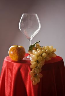 Free Still-life With Fruit And Wine Glass Stock Images - 15093554